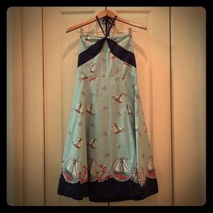 Nautical Halter/Strapless Oriole Dress